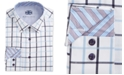 Michelsons of London Men's Slim-Fit Window Pane Dress Shirt