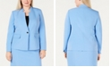 Kasper Plus Size Inverted-Collar Jacket