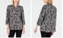 JM Collection Printed Single-Button Jacket, Created for Macy's