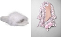 INC International Concepts I.N.C. Women's Faux-Marabou Slide Slippers, Created for Macy's