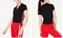 Planet Gold Juniors' Track Stripe Polo Shirt
