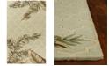 "Kas Sparta Tropical Mosaic 3153 Sage 2'6"" x 10' Runner Area Rug"