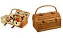 Picnic At Ascot Sussex Willow Picnic Basket with Service for 2