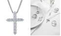 Macy's Star Signature Diamond Macy's Star Signature Certified Diamond (1-1/2 ct. t.w.) Cross Pendant Necklace in 14k White Gold