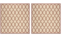 """Safavieh Linden Red and Creme 6'7"""" x 6'7"""" Square Area Rug"""