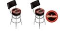 Trademark Global Budweiser Bowtie Padded Bar Stool with Back