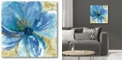 "Courtside Market Nigella Blue Gallery-Wrapped Canvas Wall Art - 16"" x 16"""