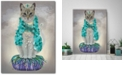 """Courtside Market Grey Cat with Bells Full Gallery-Wrapped Canvas Wall Art - 18"""" x 24"""""""