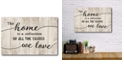 """Courtside Market This Home Gallery-Wrapped Canvas Wall Art - 12"""" x 18"""""""