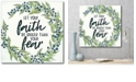 """Courtside Market Faith Gallery-Wrapped Canvas Wall Art - 20"""" x 20"""""""