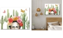 """Courtside Market Frida's Flowers Collection Gallery-Wrapped Canvas Wall Art - 18"""" x 24"""""""