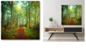 """Courtside Market Sunday Morning Walk Gallery-Wrapped Canvas Wall Art - 16"""" x 16"""""""