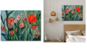 """Courtside Market Red pansies Gallery-Wrapped Canvas Wall Art - 18"""" x 24"""""""