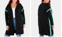 NY Collection Plus Size Racing-Striped Open-Front Cardigan Sweater