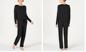 Alfani Ultra Soft Long-Sleeve Top and Pant Set, Created for Macy's