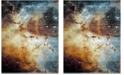 Safavieh Galaxy Orange and Multi 9' x 12' Area Rug