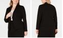 Calvin Klein Plus Size Open-Front Soft Crepe Jacket