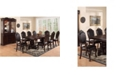 Benzara Traditional Rubber Wood Royal Arm Chair, Set of 2