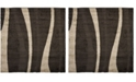 Safavieh Shag Dark Brown and Beige 5' x 5' Square Area Rug