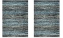 "Safavieh Porcello Charcoal and Blue 6'7"" x 9' Area Rug"