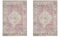 Safavieh Illusion Rose and Cream 4' x 4' Square Area Rug