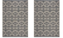 "Safavieh Courtyard Gray and Navy 6'7"" x 9'6"" Area Rug"