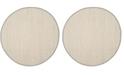 Safavieh Natural Fiber Marble and Khaki 8' x 8' Sisal Weave Round Area Rug