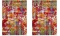 Safavieh Watercolor Orange and Green 8' x 10' Area Rug