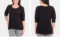 NY Collection Pleated-Cuff Top