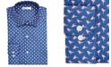 Bar III Men's Classic/Regular-Fit Performance Stretch Flamingo Dress Shirt, Created for Macy's