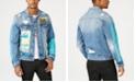 GUESS Men's Destructed Patch Denim Jacket