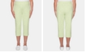 Alfred Dunner Endless Weekend Cropped Flat Front Knit Pants