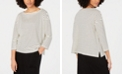 Eileen Fisher Boat-Neck Striped Top