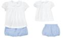 Polo Ralph Lauren Baby Girls Cotton Shirt & Bloomer Set