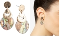 lonna & lilly Gold-Tone Abalone-Look Medium Drop Earrings