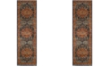 "Safavieh Evoke Blue and Orange 2'2"" x 9' Runner Area Rug"