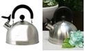 Megagoods Mr. Coffee Carterton 1.5 Qt Stainless Steel Whistling Tea Kettle