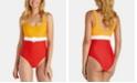 Raisins Juniors' West Coast Santana Belted One-Piece Swimsuit