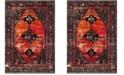 """Safavieh Vintage Hamadan Orange and Multi 6'7"""" x 9' Area Rug"""