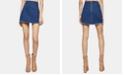 BCBGeneration Frayed Denim Mini Skirt