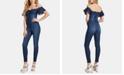 GUESS Sala Off-The-Shoulder Denim Jumpsuit