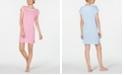 Lauren Ralph Lauren Lace-Trim Striped Knit Nightgown