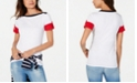 Tommy Hilfiger Cotton Colorblocked Boat-Neck Top, Created for Macy's