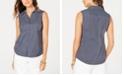 Charter Club Petite Sailboat-Print Shirt, Created for Macy's