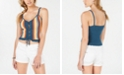 Hooked Up by IOT Juniors' Sleeveless Open-Knit Cropped Top