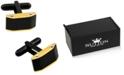 Rhona Sutton Sutton Stainless Steel Black And Gold Cufflinks