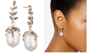 Jenny Packham Gold-Tone Pavé & Genuine Pearl (9-13mm) Drop Earrings