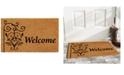 """Home & More Welcome Post 17"""" x 29"""" Coir/Vinyl Doormat"""