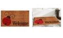 """Home & More Ladybug Welcome 17"""" x 29"""" Coir/Vinyl Doormat"""