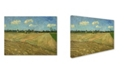 "Trademark Global Van Gogh 'Ploughed Fields' Canvas Art - 19"" x 14"" x 2"""